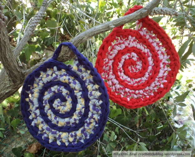 spiral fabric yarn trivets
