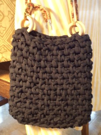 Crochet diy fabric yarn bag