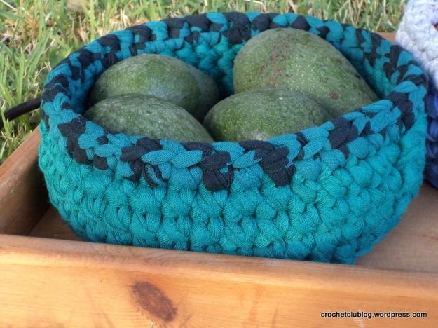 Crochet Fabric Yarn Basket