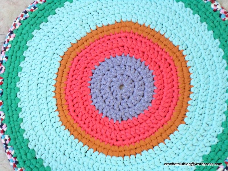 Crochet fabric yarn rug textile yarn