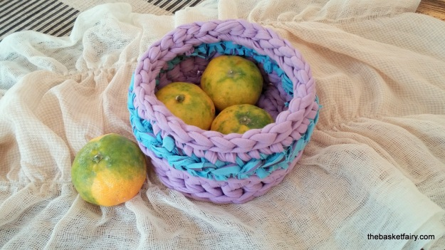 crochet fabric yarn basket