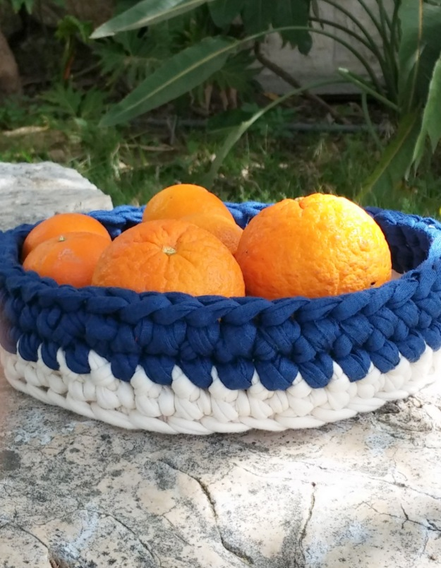 Crochet Denim Basket