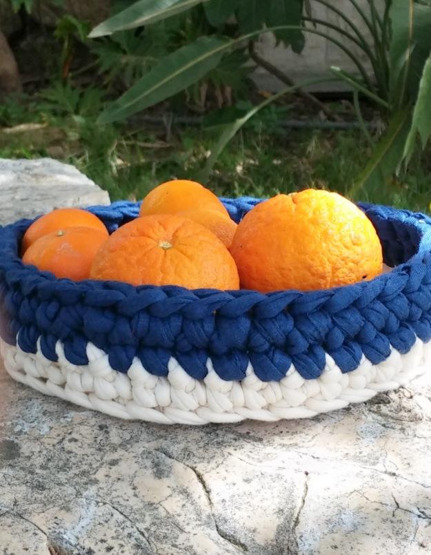 Crochet Denim Basket