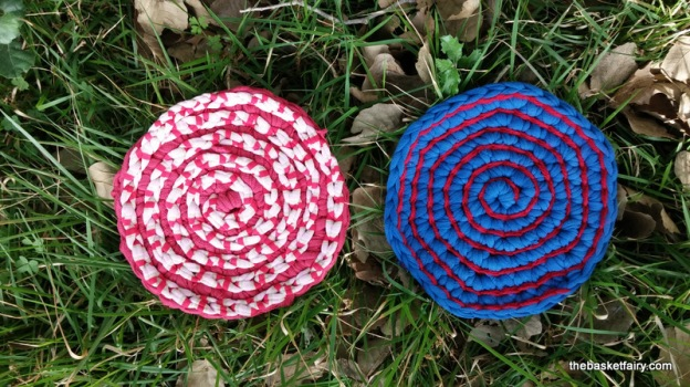 Recycled t-shirt yarn trivet